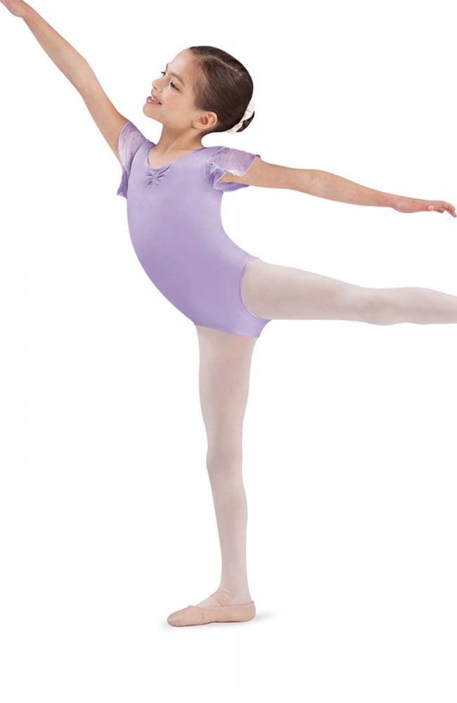 Bloch CL3732 Lilac Sequin Tulip Sleeve Bodysuit
