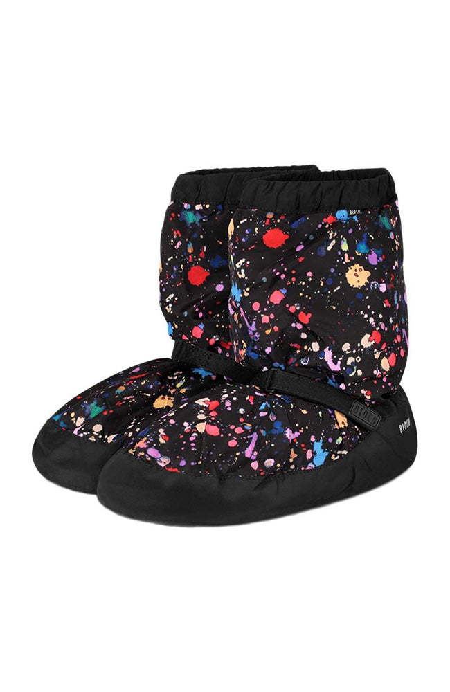 Bloch IM009PK Kids Paint Splatter Print Warm Up Booties