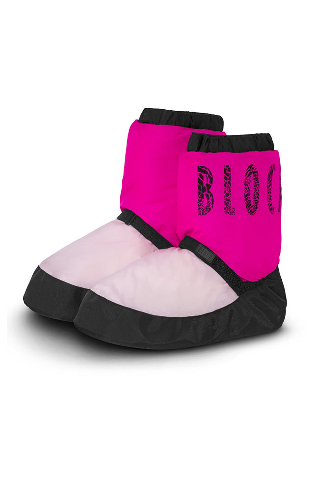 Bloch IM009T Adult Pink Two Tone Warm Up Booties