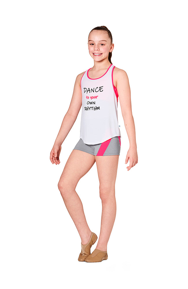 Bloch KA052T Child Neon Trim Top Pink