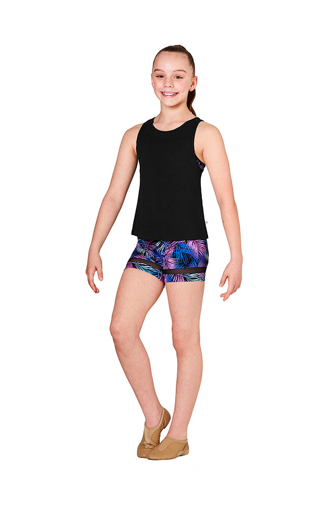 Bloch KA067T Child Mesh Back Tank Top BLK