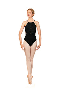 Bloch L5557 Adult Fashion Aryana Bodysuit BLK