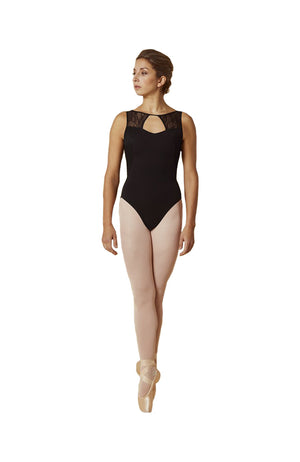 Bloch Mirella M3083LM Open Back Lace Mesh Tank Front