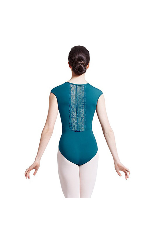 Bloch Mirella M5040LM Scallop Lace Back Cap Sleeve Leotard CLT
