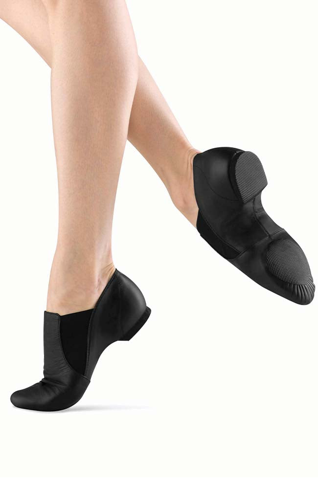 Bloch S0499L Adult Black Elasta Bootie Jazz Shoes