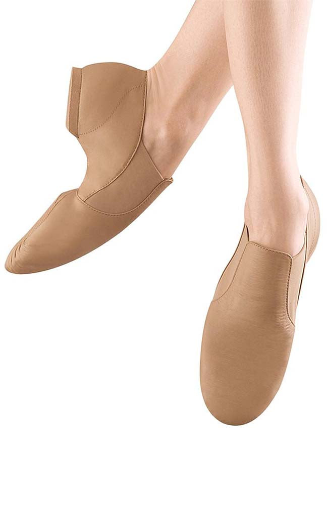 Bloch S0499L Adult Tan Elasta Bootie Jazz Shoes