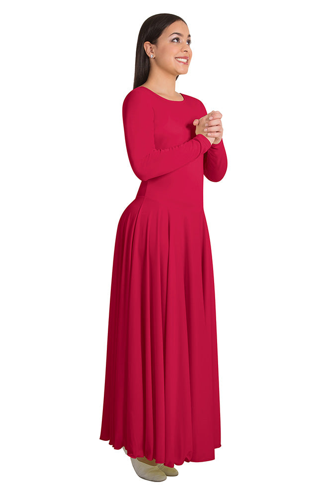 Body Wrappers 0588 Child Red Long Sleeve Liturgical Dress