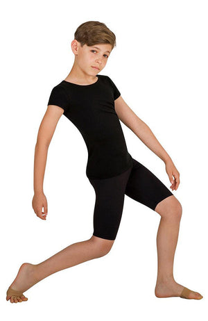 Body Wrappers B196 Boys Long Black Dance Shorts