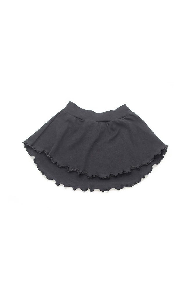 Body Wrappers OGC140 Black Organic Cotton Pull-On Skirt - Child