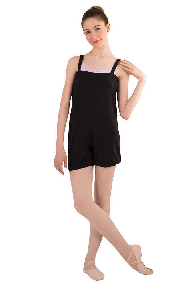 Body Wrappers P1140 Child Black Romper Warm Up