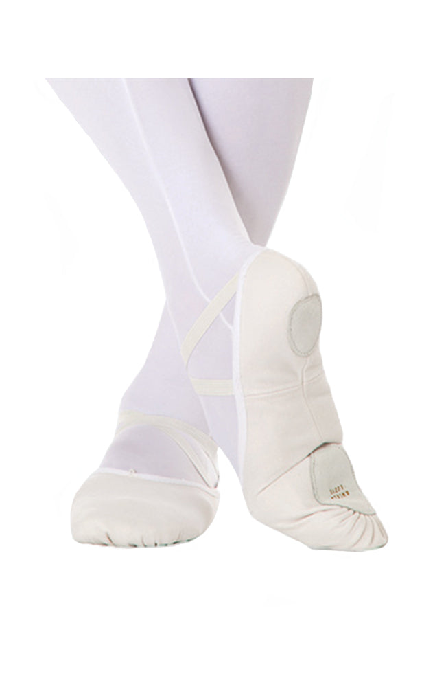 Body Wrappers 246A Split Sole Canvas Ballet WHT