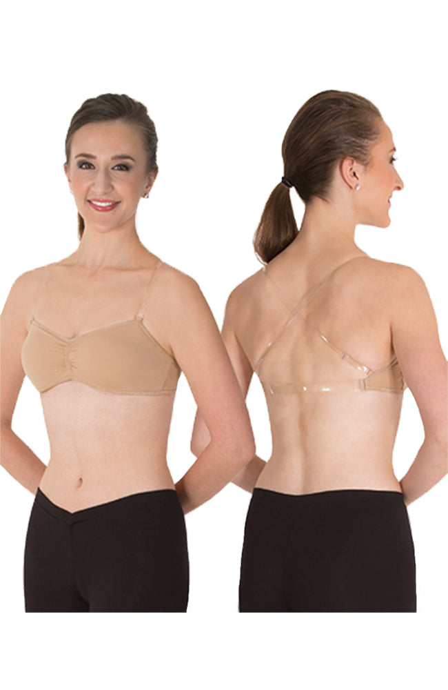 Body Wrappers 292 Adult Versatile Padded Bandeau Bra Nude