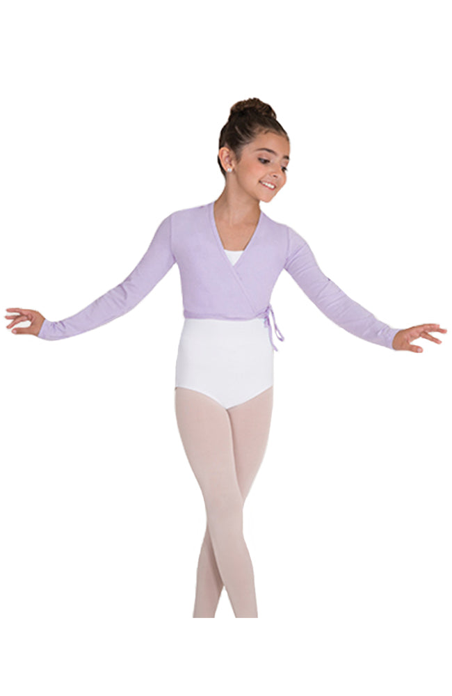 Body Wrappers 3201 Child Long Sleeve Wrap Sweater Lilac