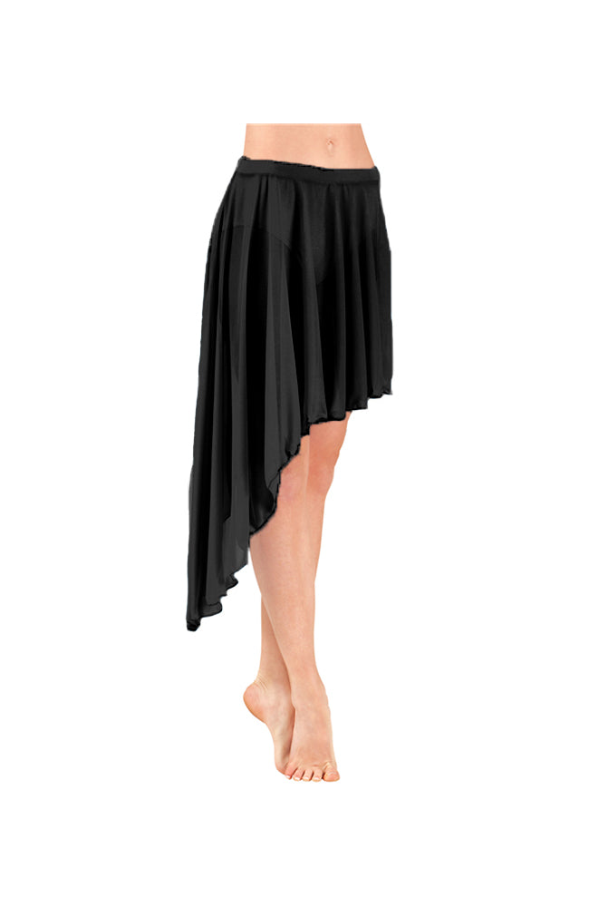 Body Wrappers BW9107 Asymmetrical Skirt BLK