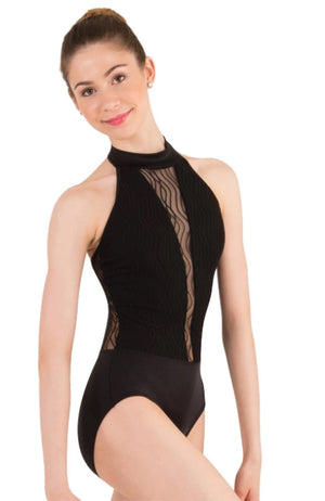 Body Wrappers P1090 Halter Bodysuit Front