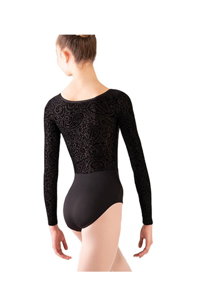 Body Wrappers P1250 Adult Long Sleeve Bodysuit Black Back
