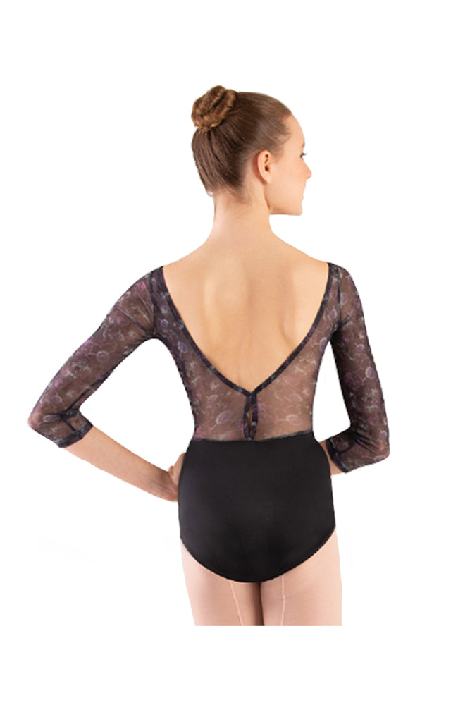 Body Wrappers 1302 Adult 3/4 Inch Sleeve Bodysuit Back