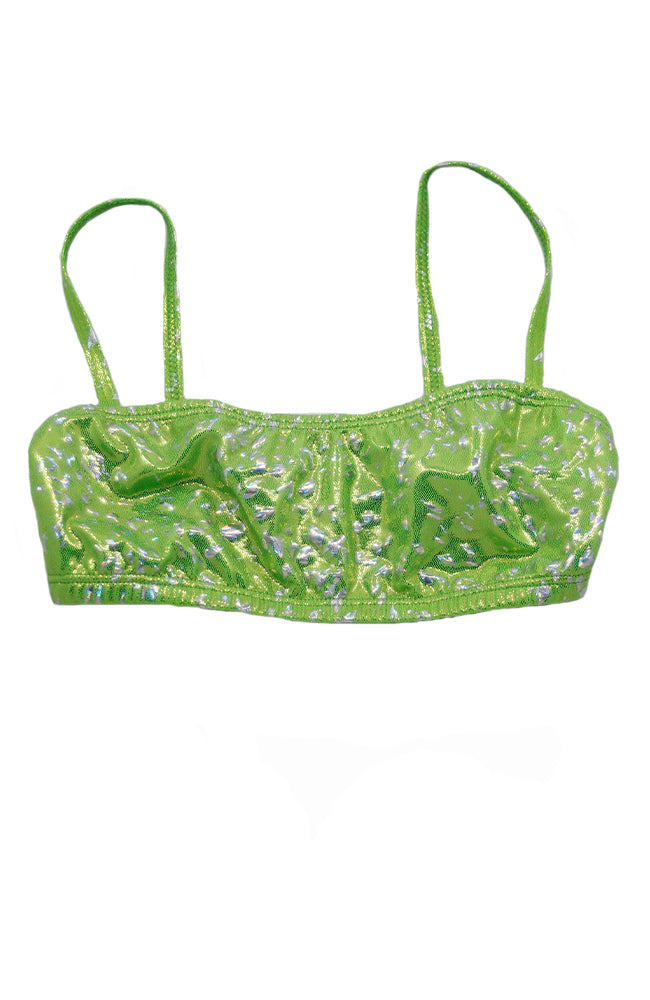 Body Wrappers T705 Lime Print Cami Bra