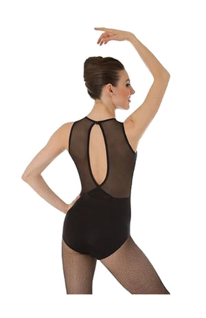 Body Wrappers Mesh Slit Back Bodysuit