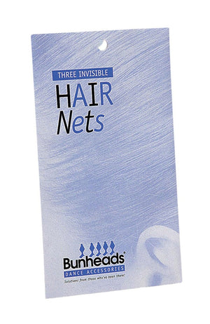 Bunheads BH422 Medium Brown Invisible Hair Nets