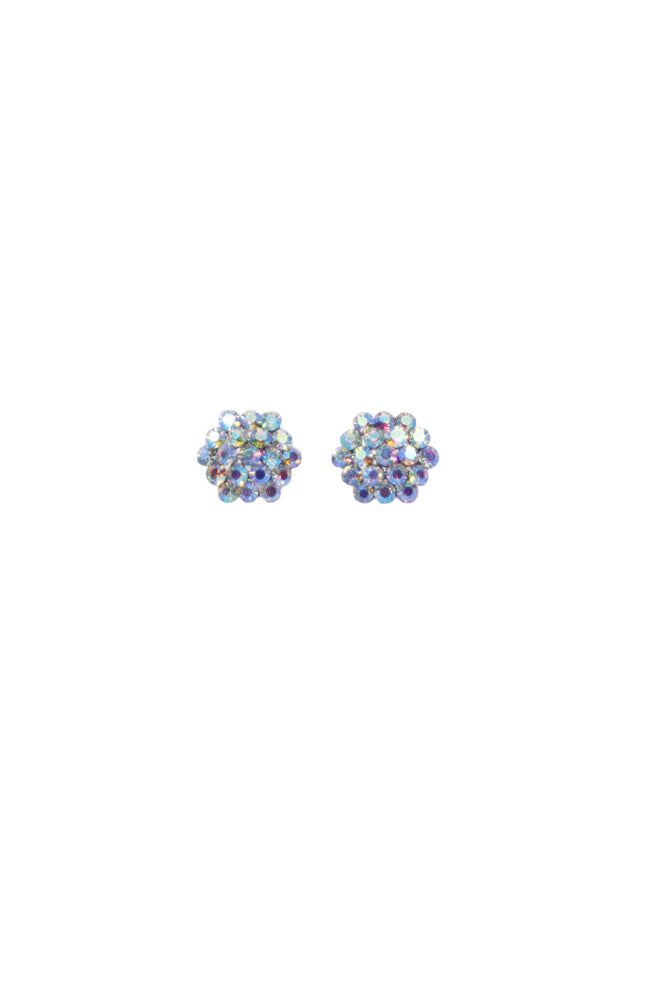 CEA02 Small AB Cluster Pierced Earrings