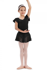 Bloch CR5161 Black Sequin Pull On Georgette Skirt