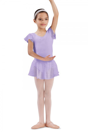 Bloch CR5161 Lilac Sequin Pull On Georgette Skirt