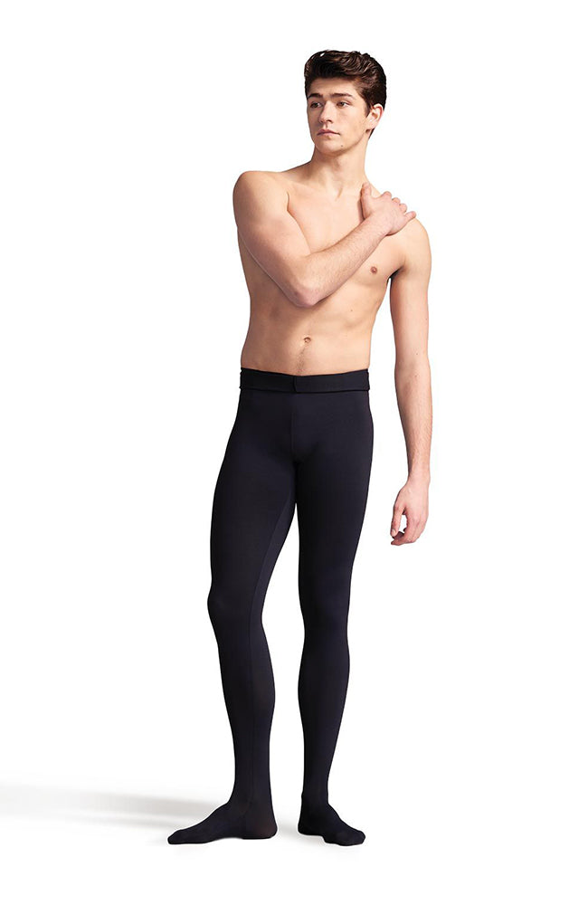 Capezio 10361M Mens Black Footed Tights