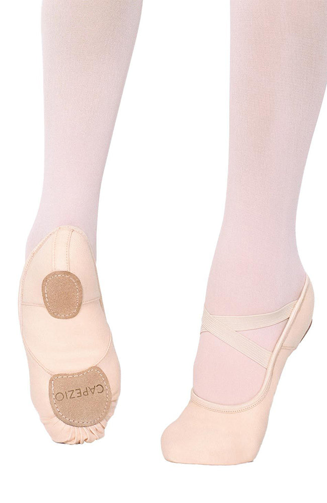 Capezio 2037W Light Pink Stretch Canvas Hanami Ballet Slippers