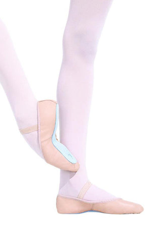 Capezio 205 Adult Pink Daisy Full Sole Leather Ballet Slippers