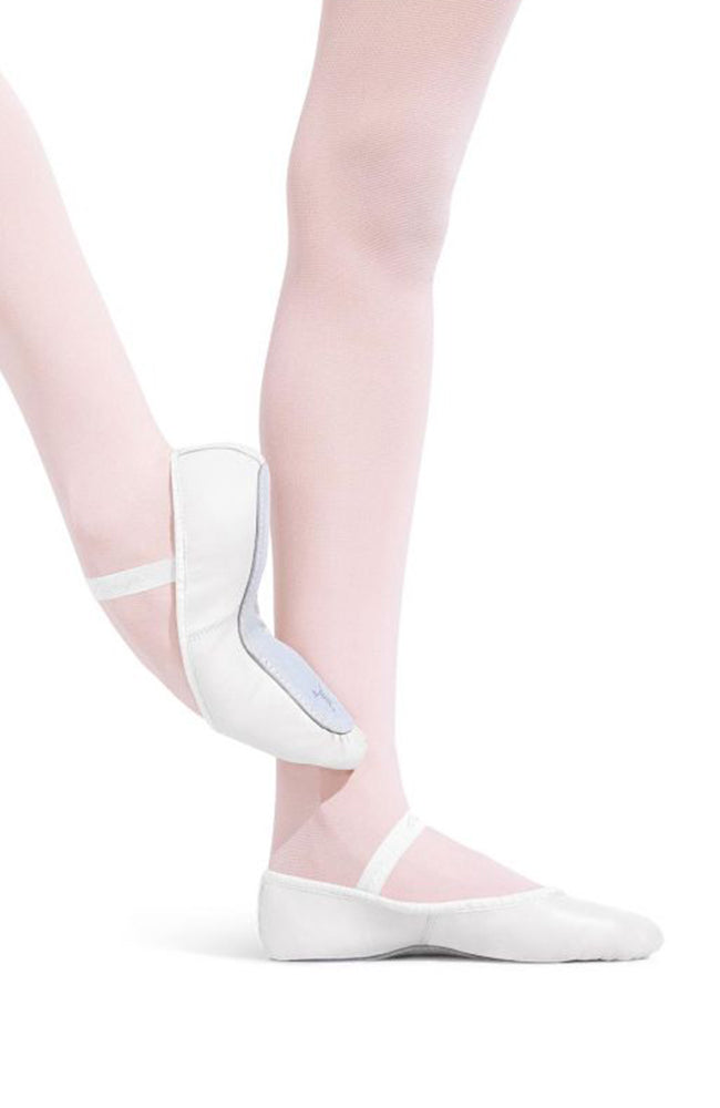 Capezio 205C Child White Full Sole Leather Ballet Slippers
