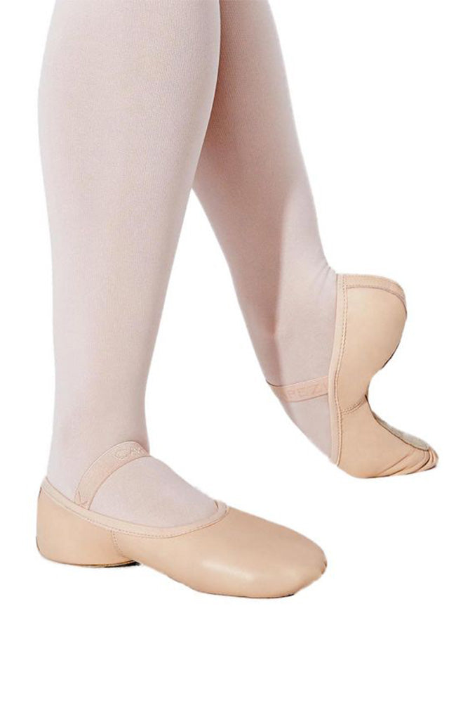 Capezio 212W Adult Pink Leather Full Sole Ballet Slippers