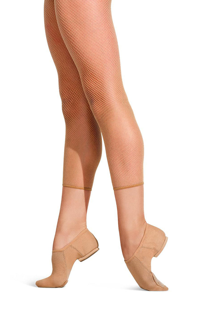Capezio 3409W Adult Caramel Studio Basic Crop Fishnets