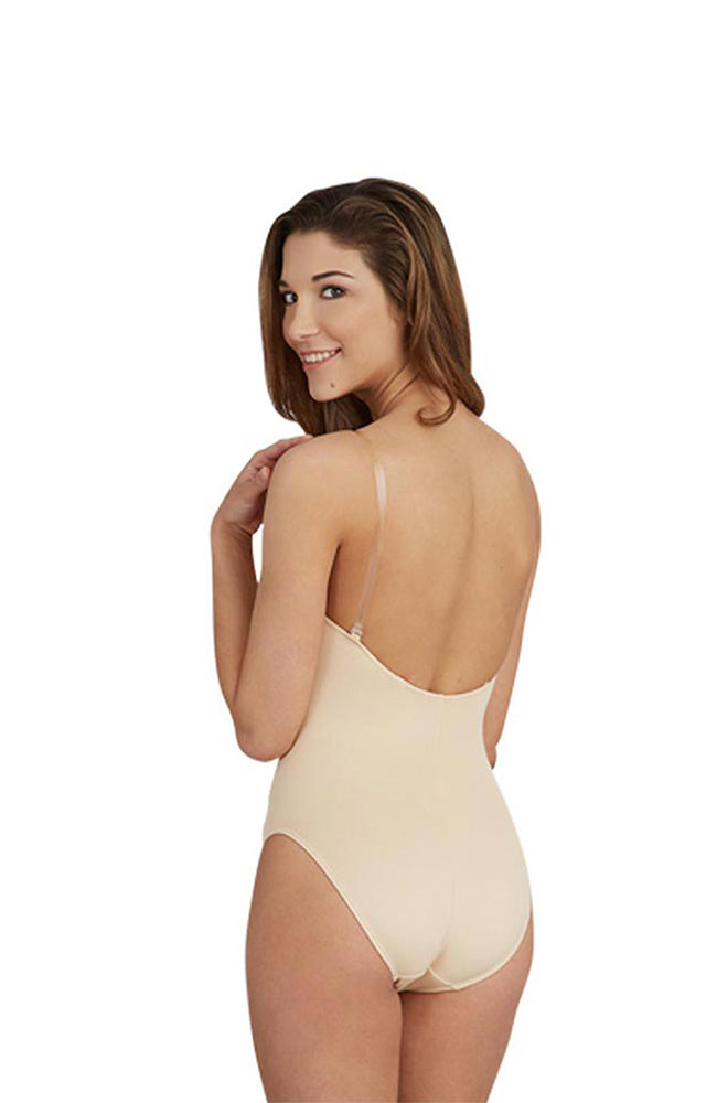 Capezio 3532C Child Nude Bodysuit with Clear Straps