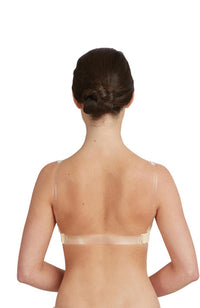 Capezio 3564 Nude with Clear Strap Bra with BraTek