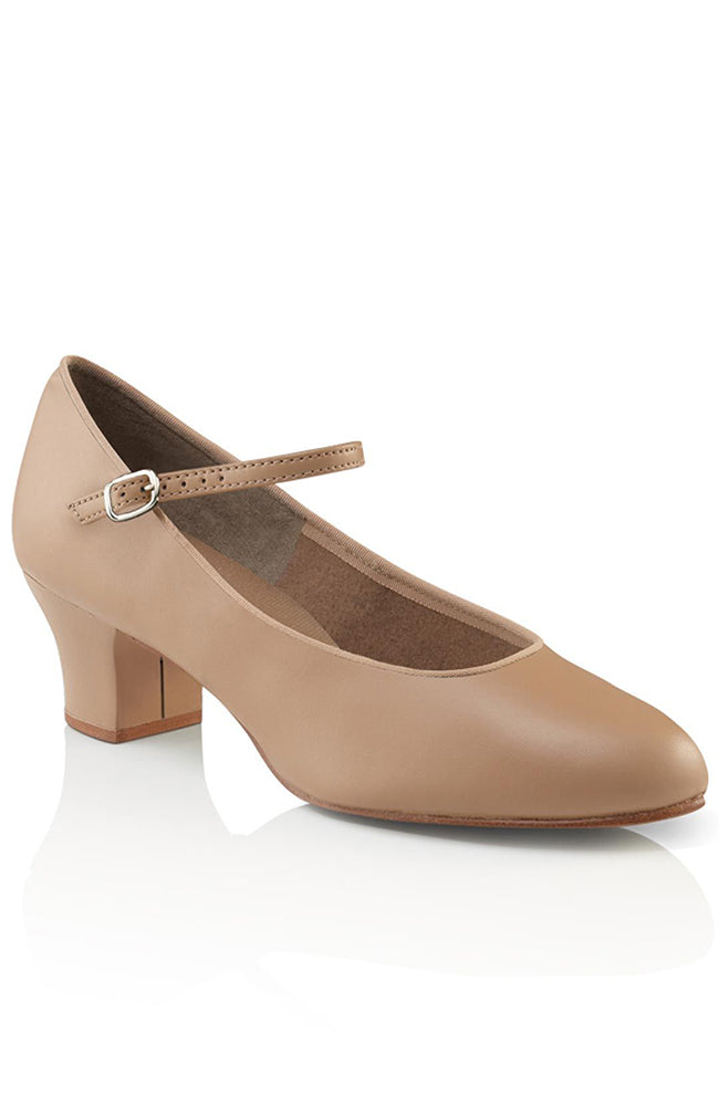 Capezio 459 Adult Caramel Suede Sole Jr. Footlight Character Shoes