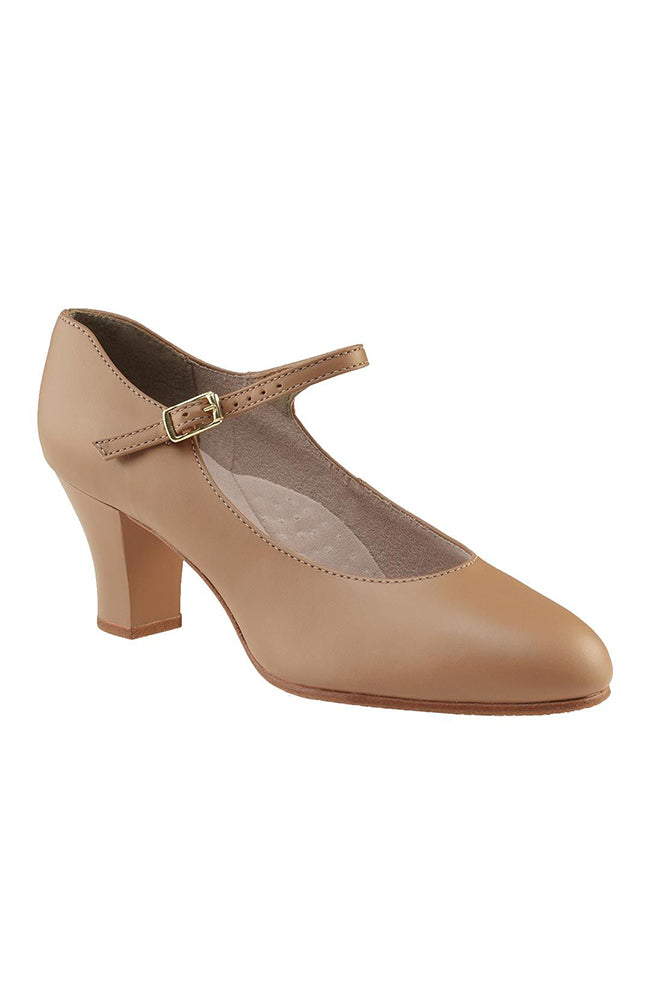 "Capezio 650 Adult Caramel Student Footlight 2"" Character Shoes"