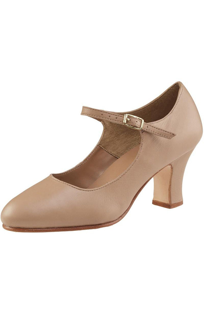 "Capezio 653 Caramel 2.5"" Heel Manhattan Character Shoes"