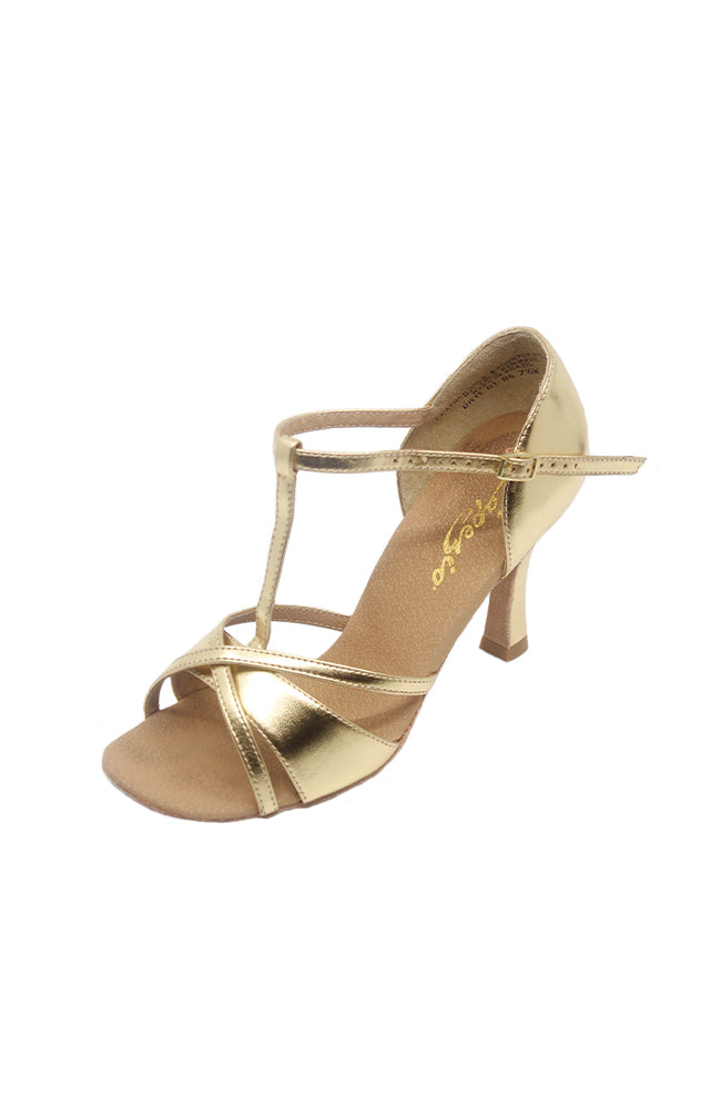 Capezio BR11 Gold Metallic Latina Ballroom Shoe