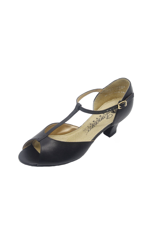 "Capezio BR14 1.5"" Open Toe Ballroom Shoe Black"