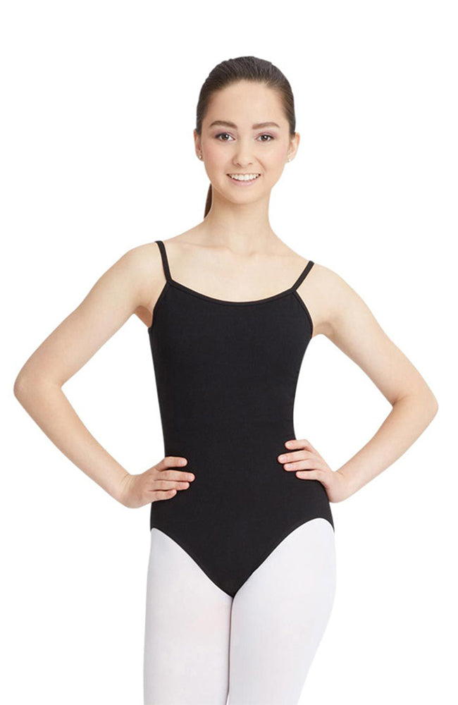 Capezio CC100C Child Black Camisole Bodysuit with Adjustable Straps