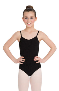 Capezio CC101C Child Black Princess Seam Camisole Bodysuit