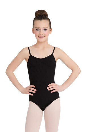 Capezio CC102C Child Black V-Neck Camisole Bodysuit