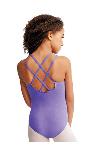 Capezio CC123C Child Amethyst Double Cross Back Bodysuit
