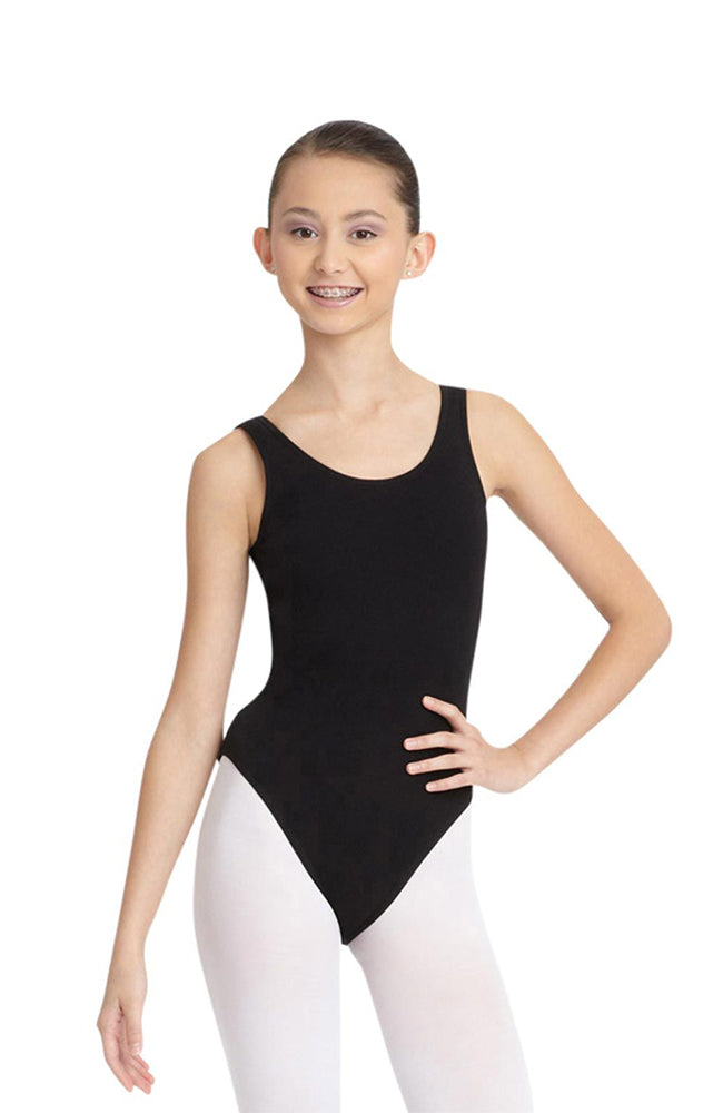 Capezio CC200 Adult Black Jazz Leg Tank Bodysuit