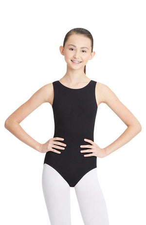 Capezio CC201 Adult Black High Neck Tank Bodysuit