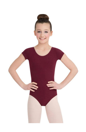 Capezio CC400/C-Cotton Classic Short Sleeve Bodysuit Burgundy