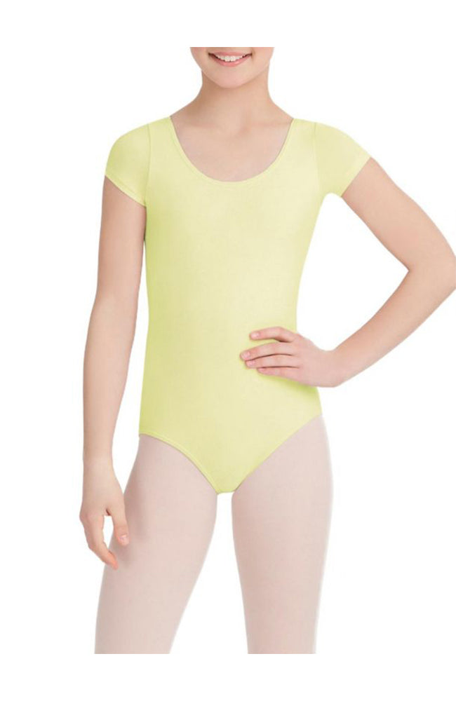 Capezio CC400/C-Cotton Classic Short Sleeve Bodysuit Butter