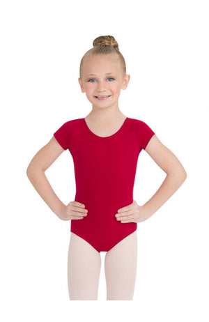 Capezio CC400/C-Cotton Classic Short Sleeve Bodysuit Garnet