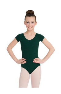 Capezio CC400/C-Cotton Classic Short Sleeve Bodysuit Hunter
